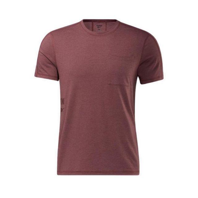 Reebok Les Mills SS Pocket  Men's Training T-Shirt - Rich Red