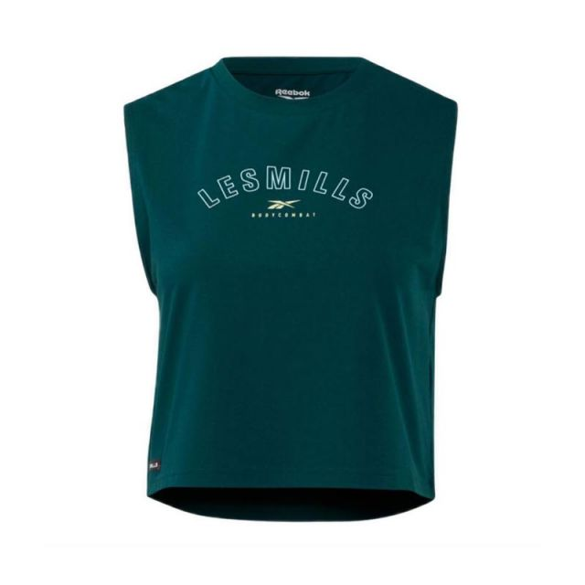 Reebok LES MILLS® BODYCOMBAT® CROPPED Women's Tank Top - Forest Green