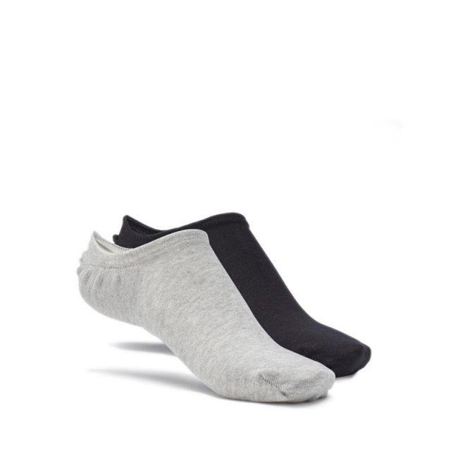Reebok ACTIVE FOUNDATION INVISIBLE Unisex Socks - White / Medium Grey Heather / Black