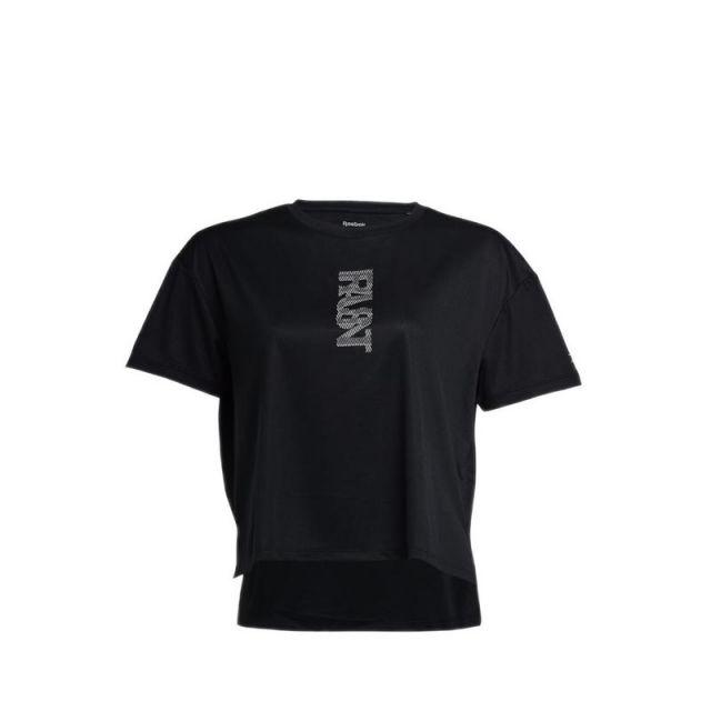 Reebok RUN ESSENTIALS GRAPHIC Women's Training T-Shirt - Black